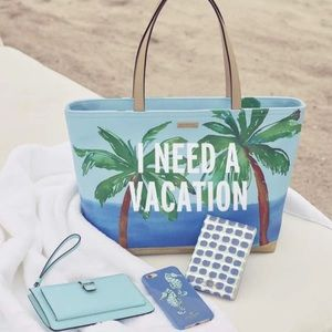 "Kate Spade ""I Need A Vacation"" Tote"